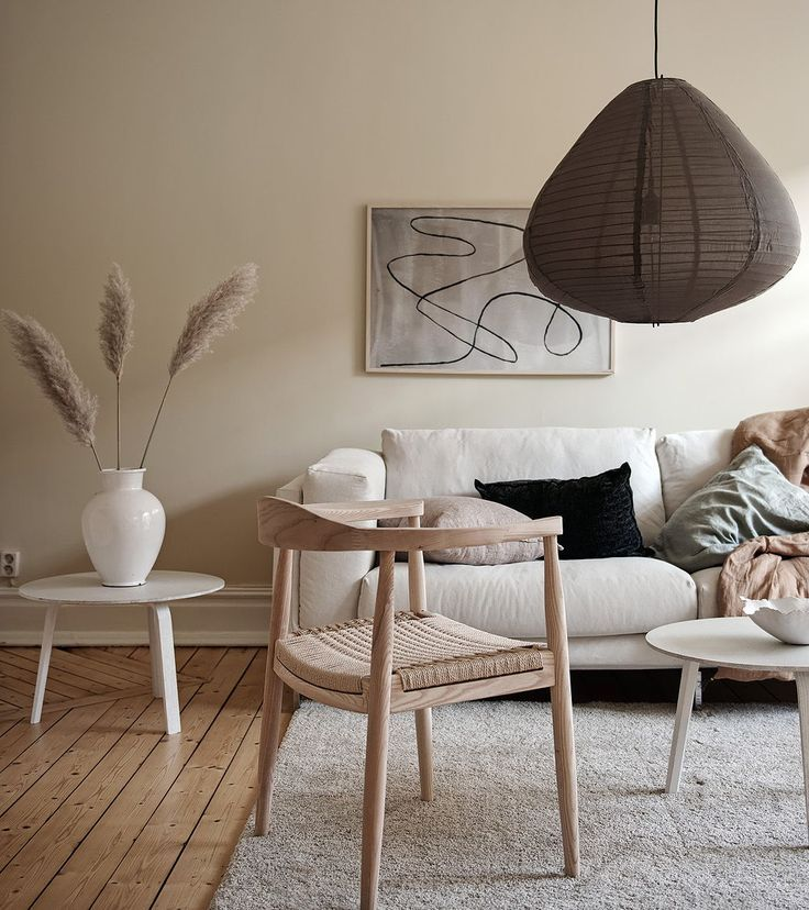 Living room in a light beige palette #paintinglivingrooms