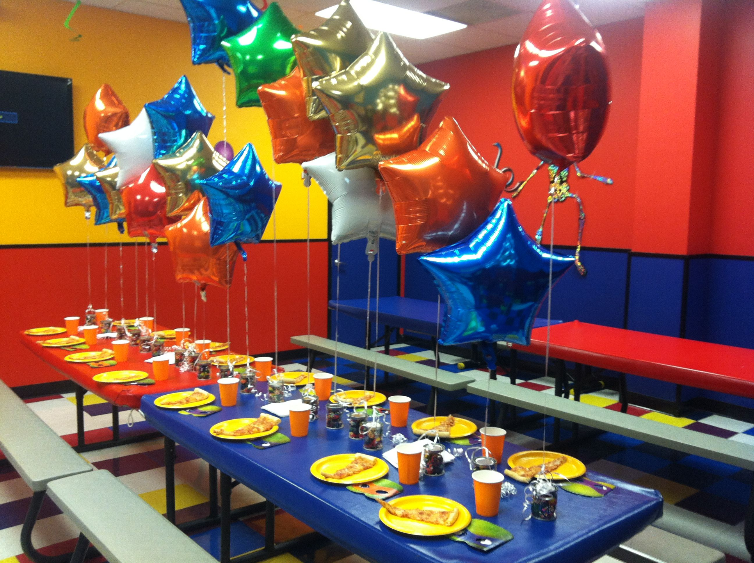 Pump It Up Boys Party With Foil Balloons From Dollar Tree