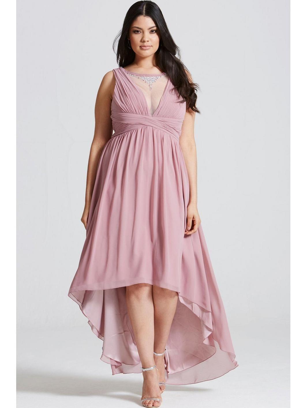Dusty Pink Dipped Hem Maxi Dress, http://www.very.co.uk/little ...