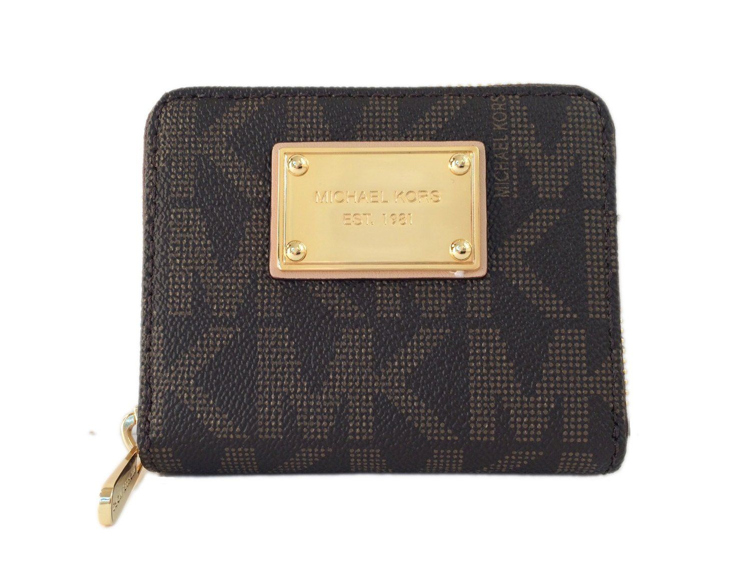 logo plaque zip around purse - Brown Michael Michael Kors mowBGeL