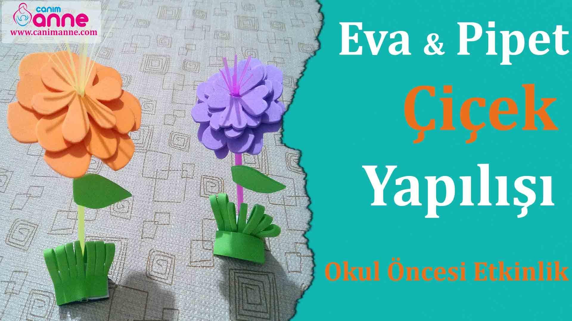 Cd ve Eva Kağıdı ile Kolay Çiçek Yapımı