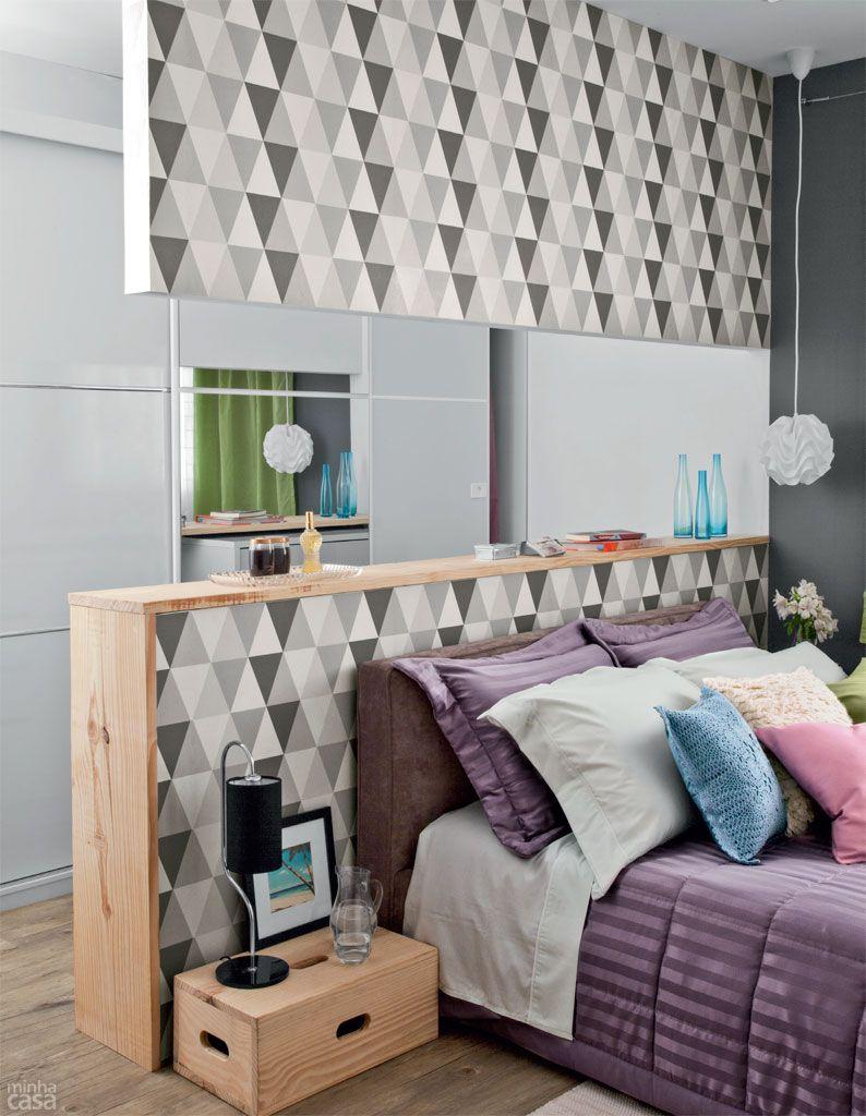 Quarto De Casal Com Closet Por 10 X R 483 Bedrooms Quartos And  ~ Decoração De Quarto De Casal Pequeno Com Papel De Parede