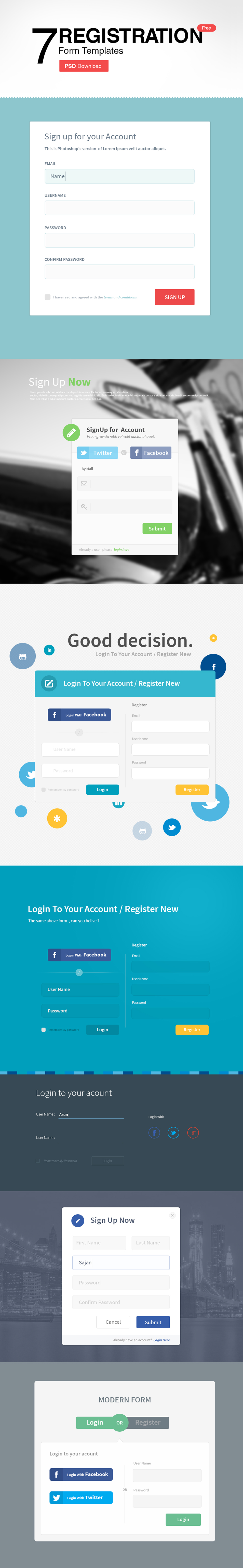 7 Registration Form Templates Psd Freebie No 108 My Favorite Ui