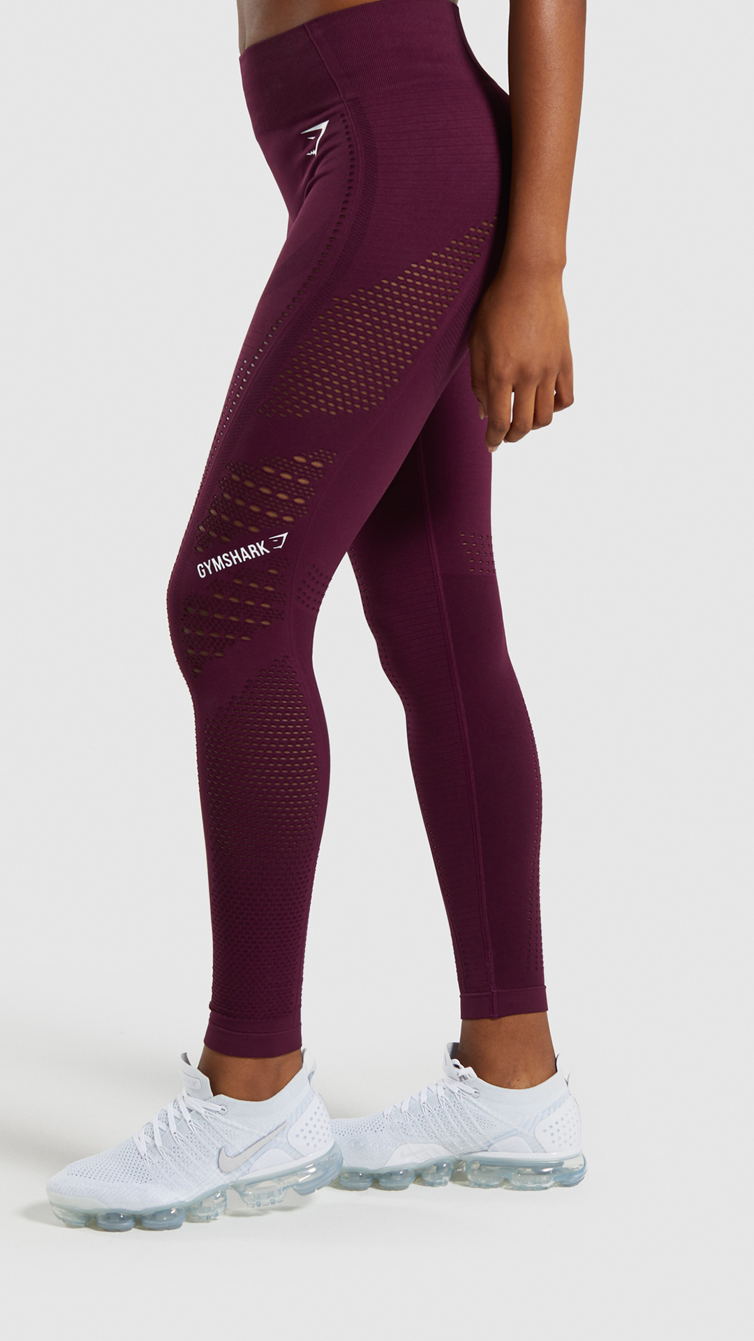 A Spicy New Flawless Set These Flawless Tights In Dark Ruby Are Our New Favourite Gymshark Gym Sweat Train Pe Knit Tights Pants For Women Pants Pattern