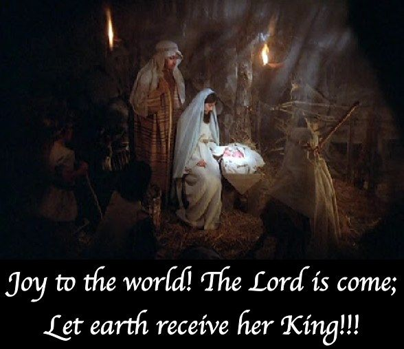 Joy to the world! the Lord is come, Let earth receive her ...