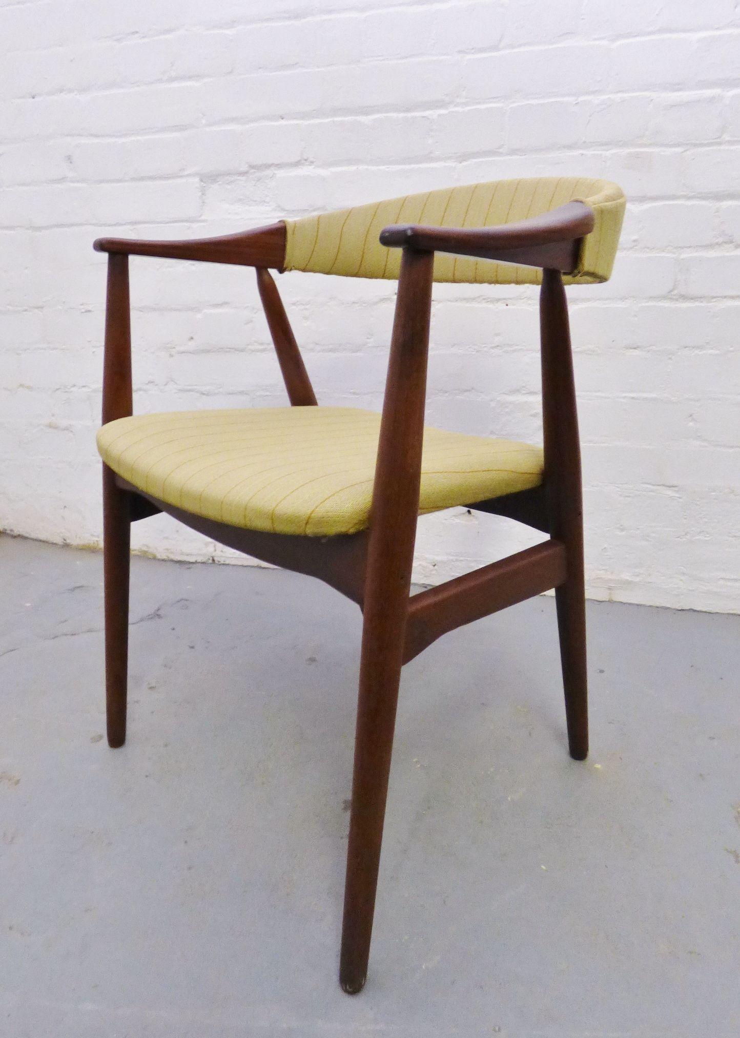 Mid-century Danish teak desk chair by Farstrup www ...