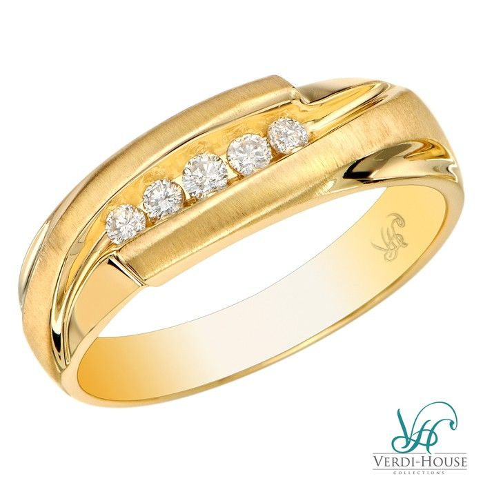 0.35ct TW Diamond Gents\' Ring in 14k Yellow Gold | Men\'s Jewelry ...