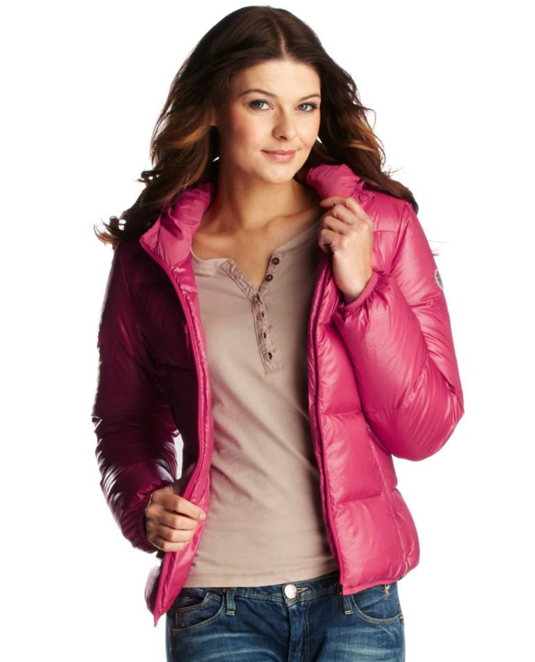 Pink hooded Tommy Hilfiger down jacket (med bilder)
