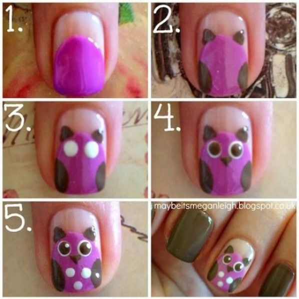 Cute Easy Nails Lol Love It Xox Kellsie Nails Pinterest Owl