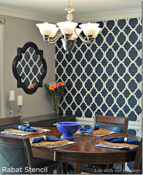 A Dazzling Dining Room Redo Using The Rabat Stencil