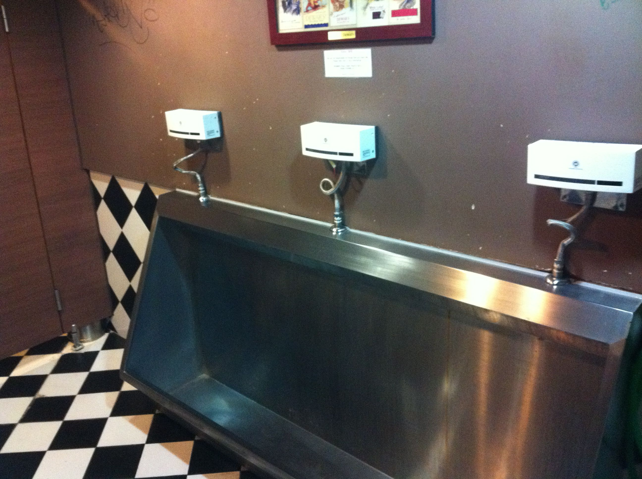 A Urinal Trough Is Not Really A Want So Much As A