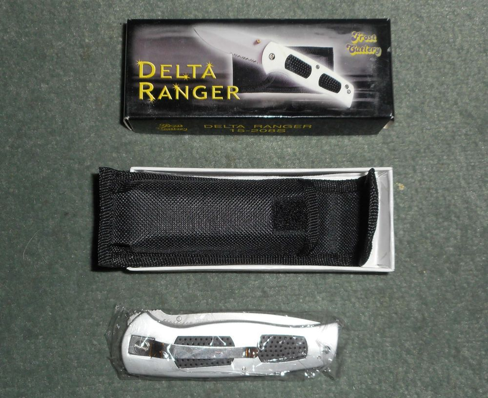FROST CUTLERY DELTA RANGER Locking Blade Knife w/Clip