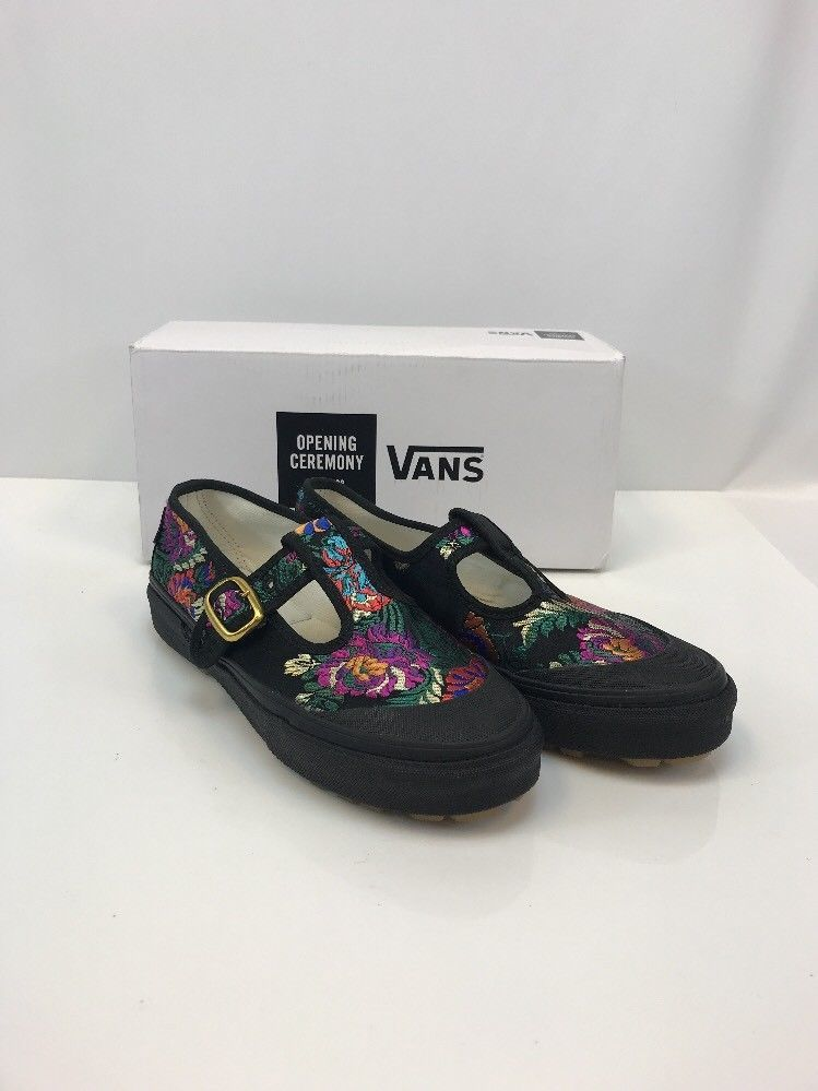 adbff28ad11a NEW Vans Women s Black Multi Floral Opening Ceremony Mary Jane Shoes Sz 7.5