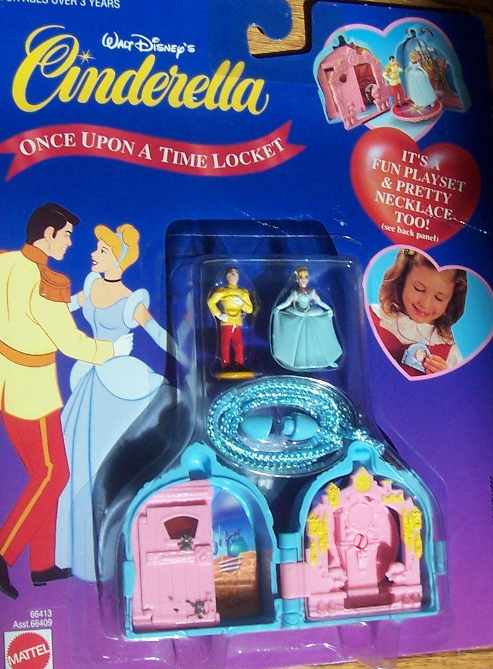 Amazon.com: Disney Cinderella Once Upon a Time Locket (Vintage-retired): Toys & Games