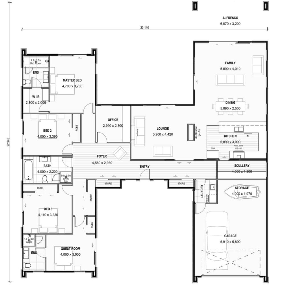 Pavilion House Plans Nz H Shaped House Plans Nz The Dunstan In 2020 U Shaped House Plans U Shaped Houses Building Plans House