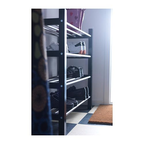 ikea tjusig tag re chaussures noir ovalle etagere. Black Bedroom Furniture Sets. Home Design Ideas