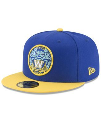 buy popular 52551 4b345 New Era Golden State Warriors City Series 59FIFTY Fitted Cap - Blue Yellow 7