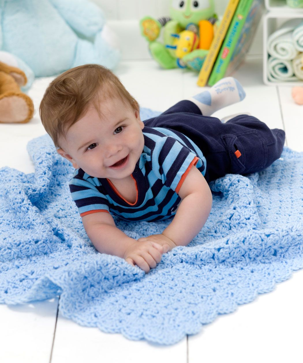 Solange dein Baby noch nicht krabbeln kann, ist diese gehäkelte ...