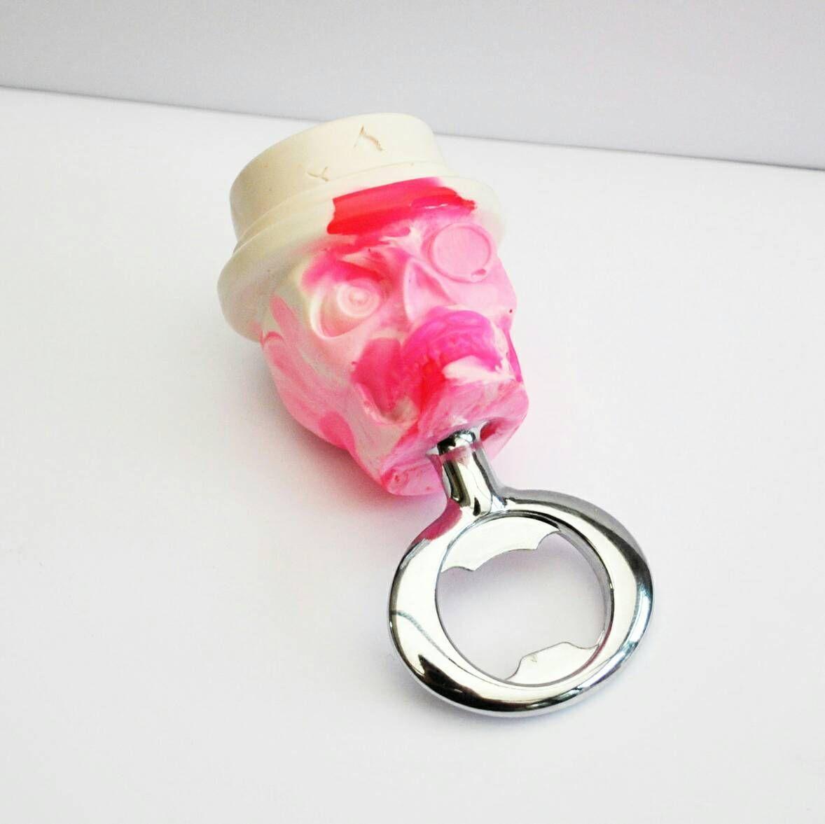 Skull Bottle opener - Funky Vibrant Pink Skull Beer Bottle Opener ...