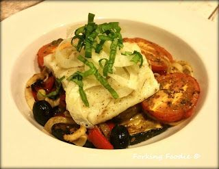 318 cals   Forking Foodie: Baked Cod Provencal