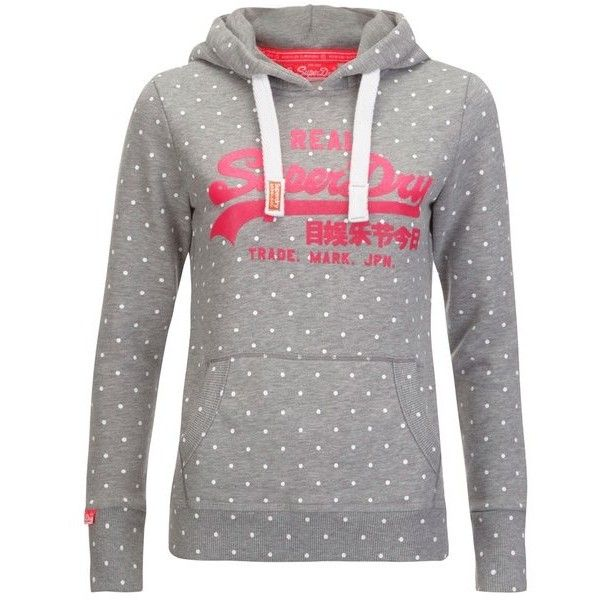 Buy Superdry Women\u0027s Vintage Logo Aop Entry Hoody - Grey Marl We\u0027ve got top  products at great prices including fashion, homeware and lifestyle products.