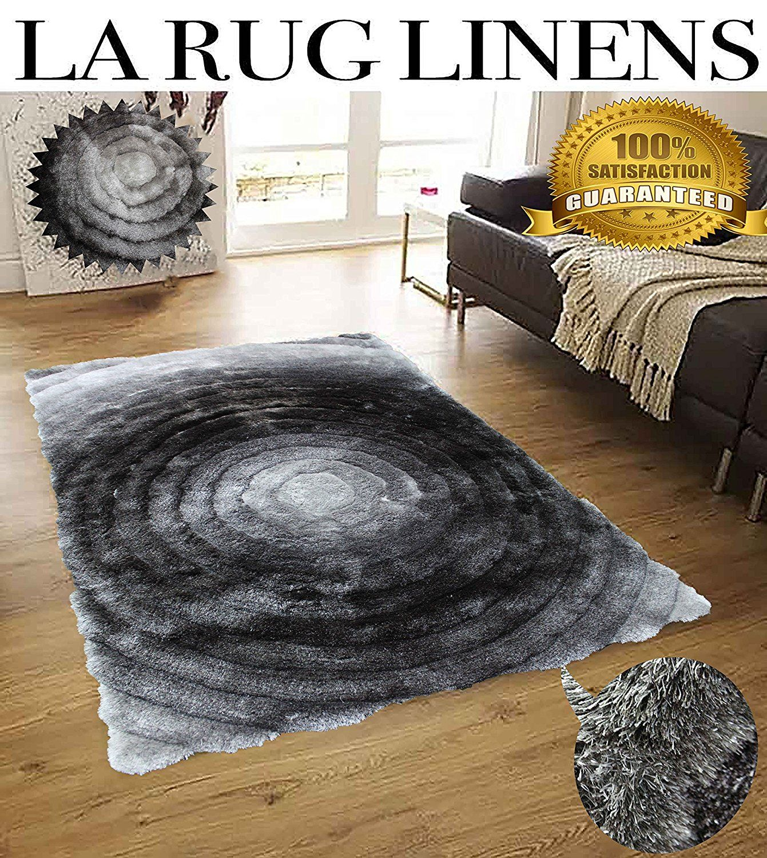 Shimmer 8x10 Shag Shaggy Modern Contemporary Gray Large Rug Carpet