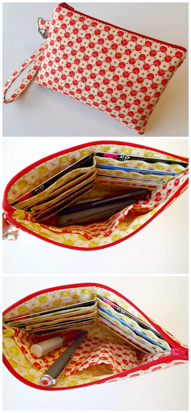Easy beginner wristlet bag sewing pattern and video. 7cfb29d0829
