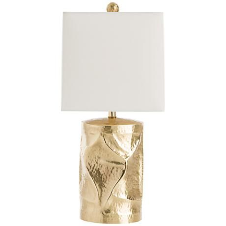 Multi dimensional brass contemporary table lamp from the well appointed house