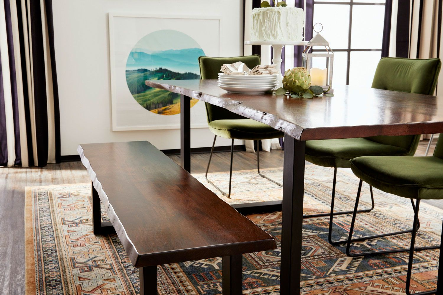 Portland Dining Table Cognac Value City Furniture And Mattresses Furniture Upholstered Dining Chairs Dining Room Seating