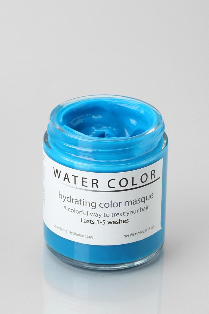 Water Color Hydrating Hair Color Mask Hair Color Dark Blue Hair