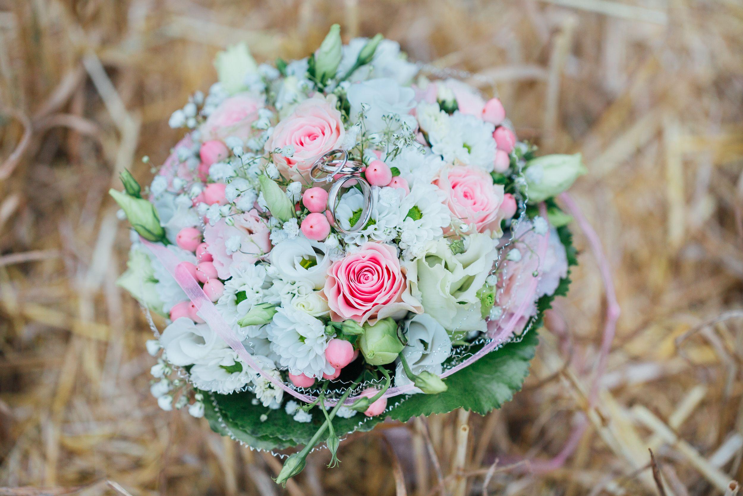 Der Hochzeitsstrauss Einer Hochzeit Im August Die Ich Fotografiert