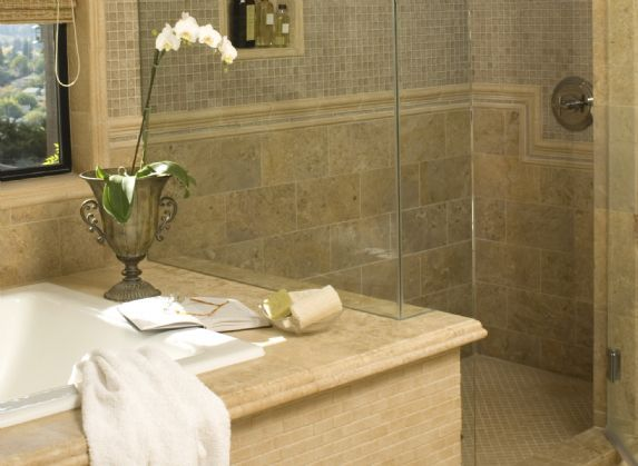 Tile Trends Granite Around Tub Shower Design Master Bath