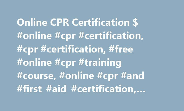 Online Cpr Certification Online Cpr Certification Cpr
