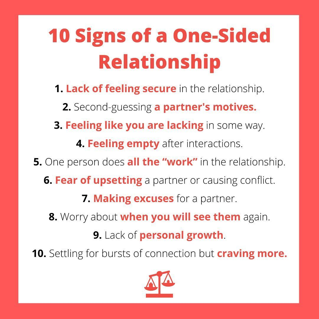 10 Signs of a One-Sided Relationship #relationship