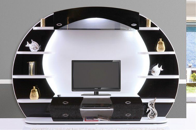 Aveo Wohnwand(Schwarz) Hane Möbel - Möbel Online Kaufen vh