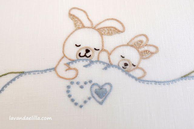 Bambini teneri ~ Sssstt teneri coniglietti dormono orsetti per bambini