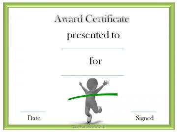 track and field award certificate templates certificates