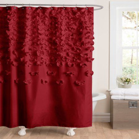 Lucia Red Shower Curtain