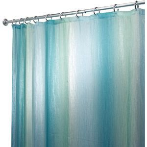 Interdesign Ombre Fabric Shower Curtain Standard 72 X 72 Blue Green Walmart Com Ombre Shower Curtain Shower Curtains Walmart Beach Theme Bathroom