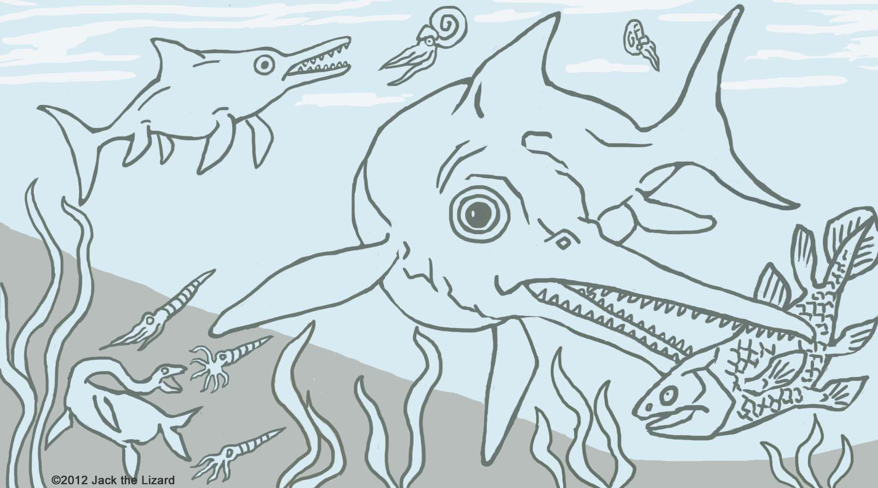 prehistoric coloring pages - photo#22