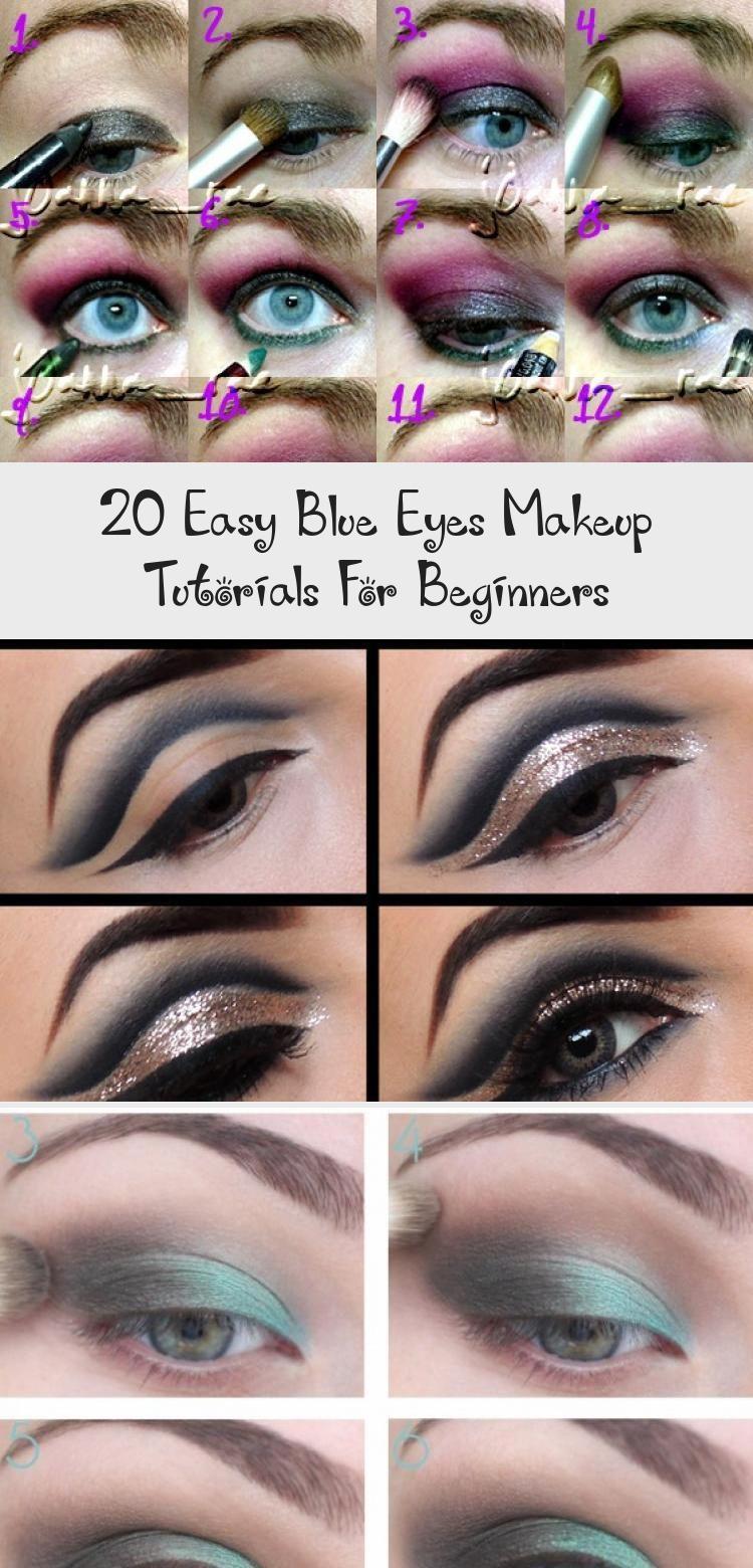 20 Easy Blue Eyes Makeup Tutorials For Beginners Prom Eye Makeup