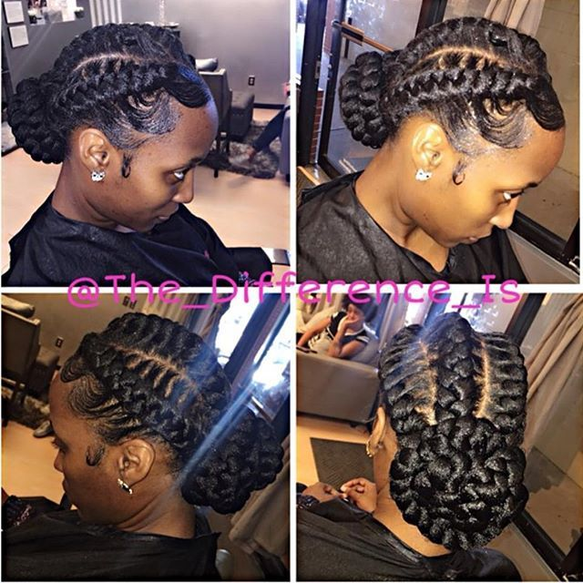 Goddess braid straight back w/Bun, Want this look❓Click