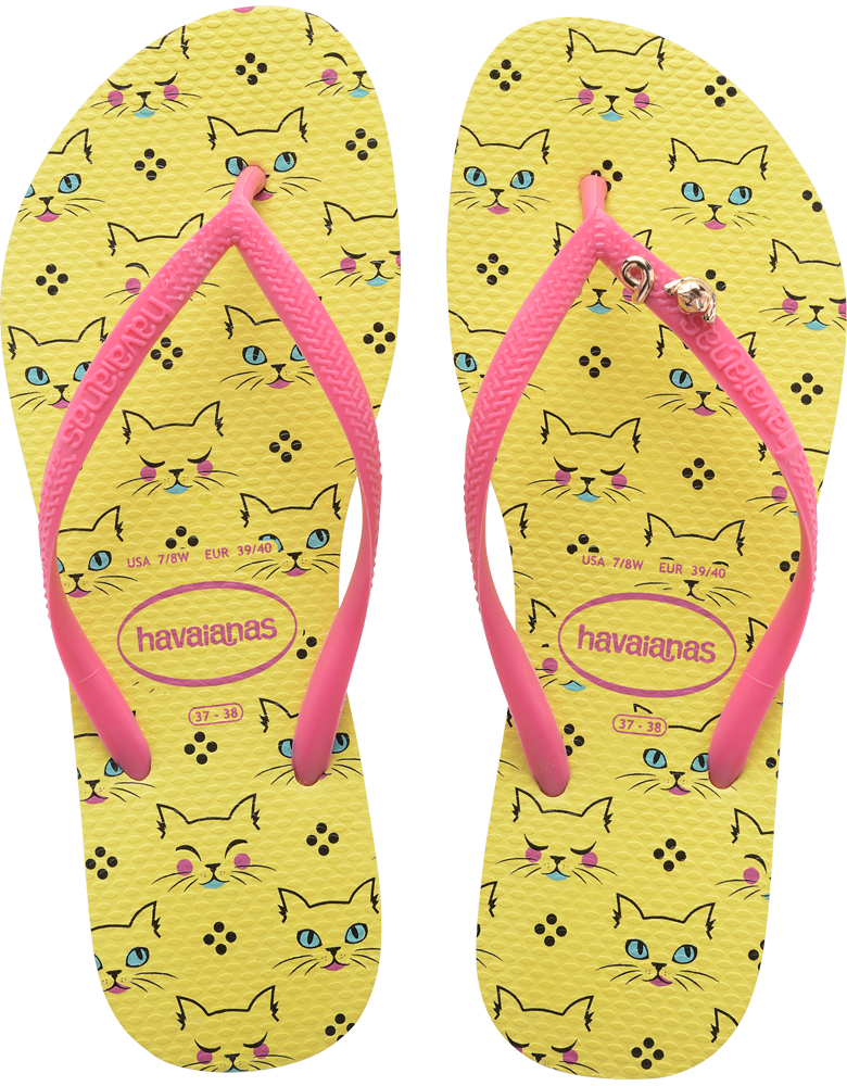 b361cbae1190 Slim Pets - Women s Slim Cat and Dog Printed Flip Flops - Havaianas ...