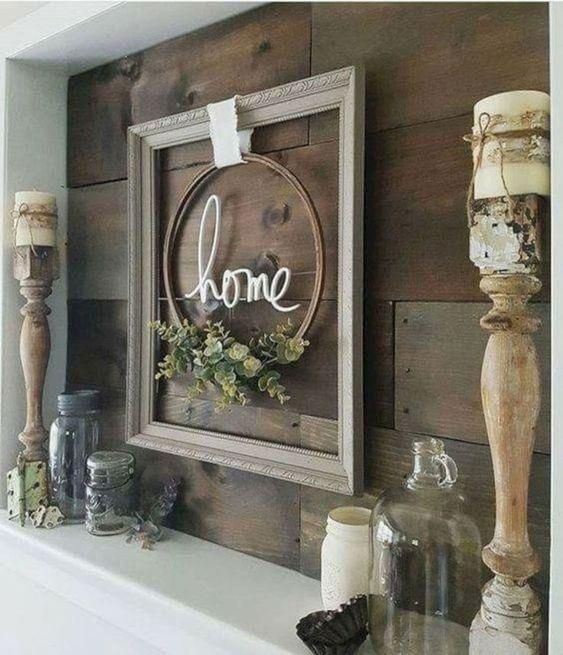 40 Rustic Living Room Ideas To Fashion Your Revamp Around: 40+ Farmhouse Shelving And Wall Decor Ideas