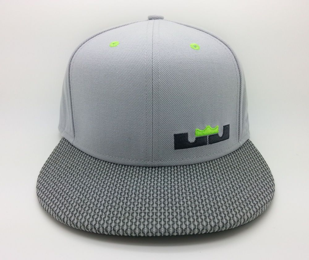 a6846054bfa ... coupon code for nike lebron james 12 dunk force snapback hat grey green  eefbe 80e4d ...