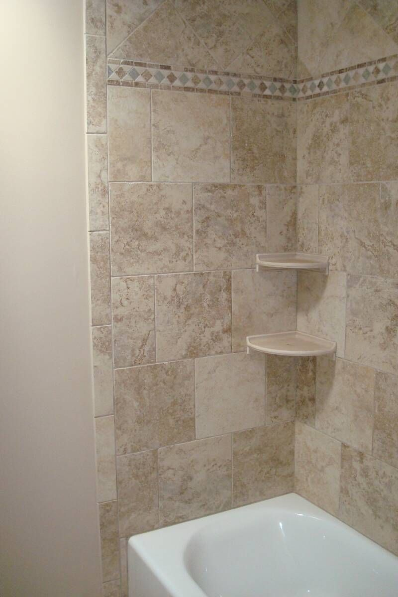 tile surrounding bathtub | New Tile Walls Around Tub/Shower | grey ...