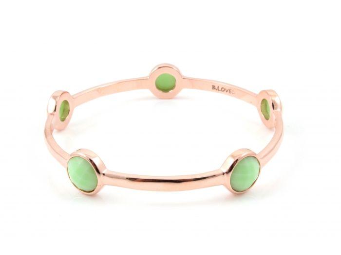 B. Loved armband 5 quartz mint/rosé gold plated : Jewelz en More