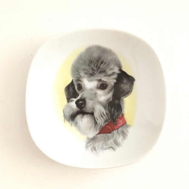 Poodle Schnauzer Plate Tiny Dog Saucer Little Plates Etsy Tiny Dogs Poodle I Love Dogs