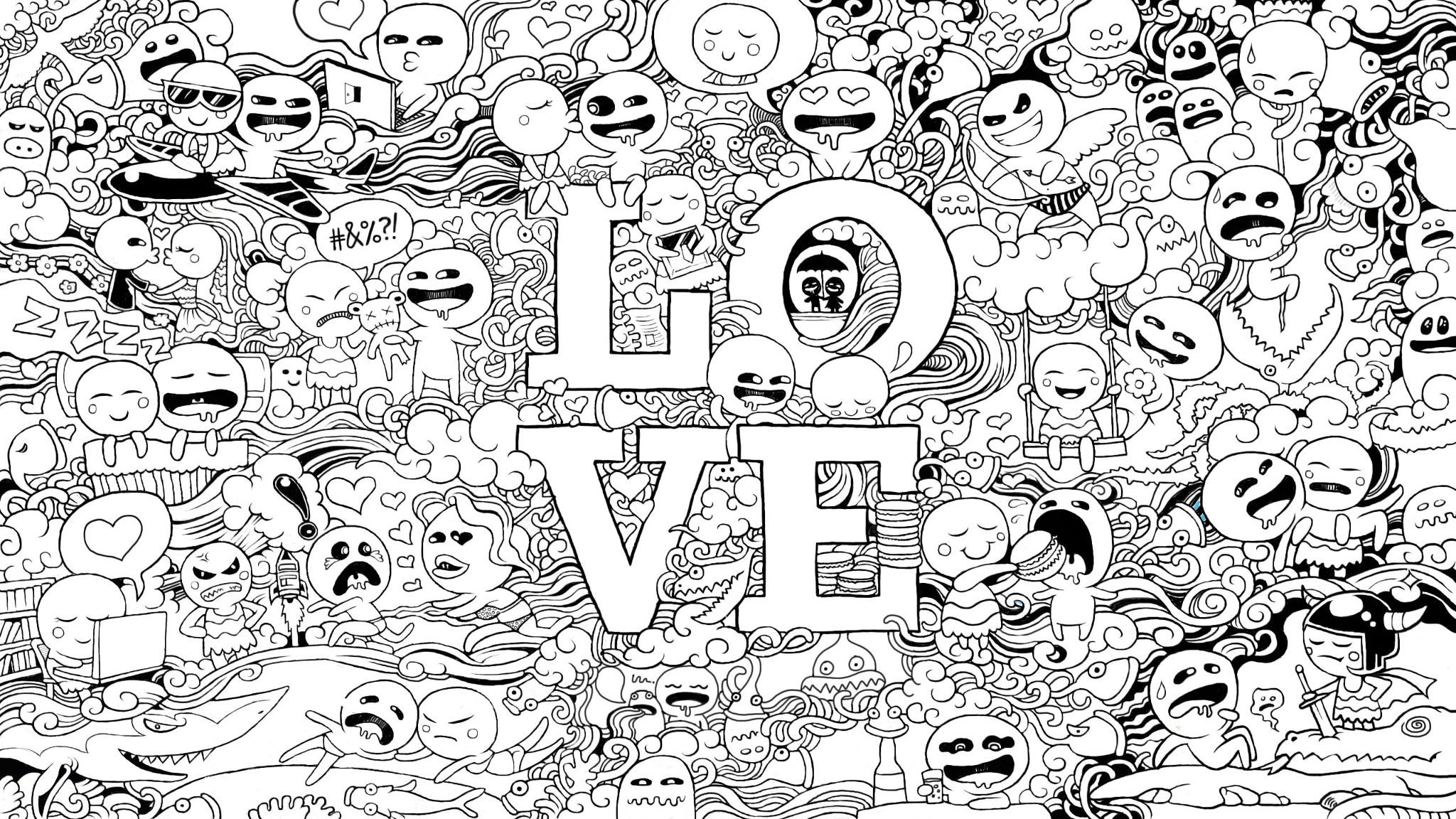 Pin by jessica santos on Printables | Wallpaper doodle ...