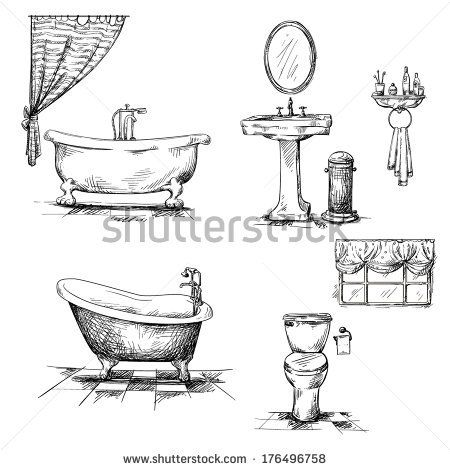 Clawfoot Tub Drawing